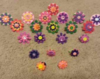 Pet collar daisies. Pack of 3