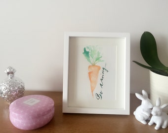Carrot Print - Be Caring - Kitchen Print