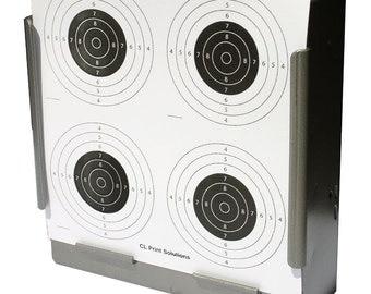 100 x Air Rifle Four Circle Target Design on Card 14 x 14cm