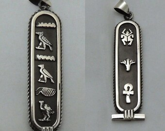 Put YOUR NAME in Hieroglyphic Elegant Pendant CARTOUCH