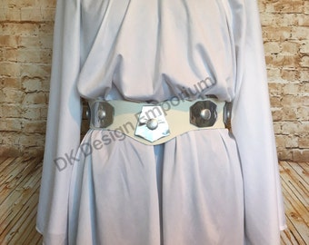 Princess Leia Inspired Running Costume - Space Princess Run Costume - Kids Princess Leia Costume - Princess Leia Cosplay - Kids Race Costume