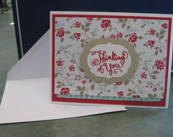 Thinking of You card, Blank Cards, Greeting Card