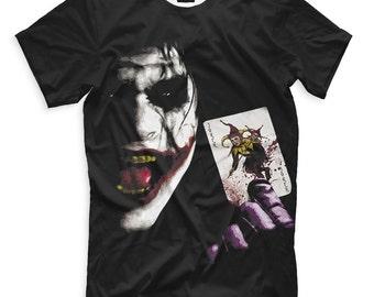 Joker Women's Men's DC Comics Art T-shirt