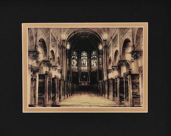 Church Photograph 5x7 matted print