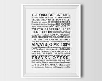 Manifesto, manifest, printable wall art, instant download, inspiring quote, positive wall art, office decor, inspiring wall art