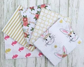 Wonderland Fat Quarter Bundle, 5 Fat Quarters, Riley Blake Fabric Bundle, Melissa Mortenson Fabric