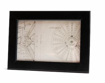Star Wars Framed Blueprint , Home Decor, Wall Art