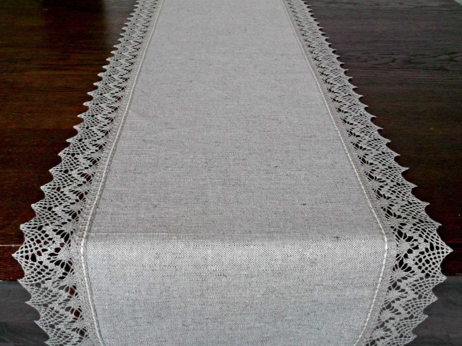 120 Extra long table runner Linen lace table scarf Light  : ilfullxfull952712774t3no from www.etsystudio.com size 1500 x 1125 jpeg 487kB