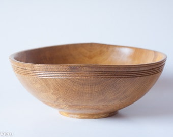 Sessile oak wooden bowl