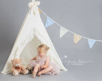 teepee with lace finish