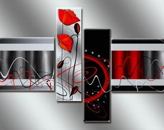Modular painting Poppies