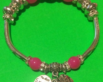 Pandora style handmade beaded charm bracelet U Pick Color