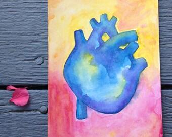 Dreamy Blue Heart