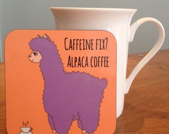 Alpaca Coffee Coaster