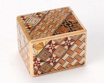4 step Japanese Puzzle Box Secret Yosegi Hakone 2 Sun Trick Opening Crafted S Himitsubako Famous Souvenirs