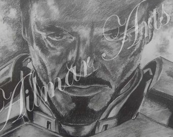 Iron Man, Tony Stark, Pencil, Graphite Portrait