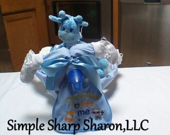 Tricycle Diaper Cake for a Baby Boy