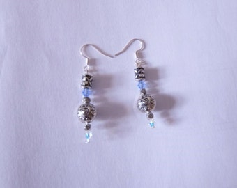 Earrings Blue Heart (Goddess Athena Collection)