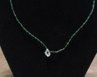 Green Seed Bead Anklet