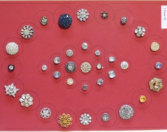 Antique Jeweled Buttons