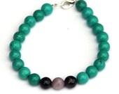 CUSTOM - CHRISTINE - Turquoise stretch bracelet