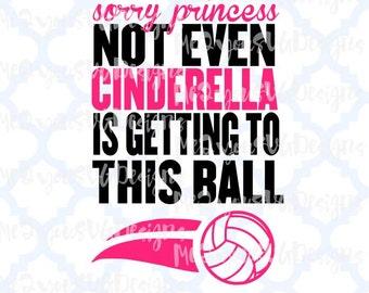 Cinderella Volleyball SVG,EPS,PNG,Studio