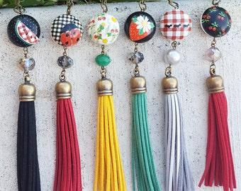 Summer picnic tassel necklace