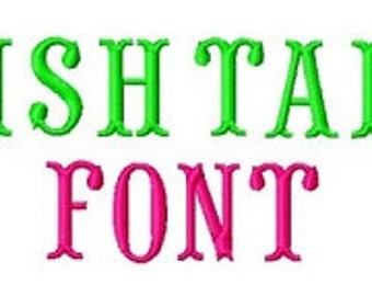 Bogo Free Font, Buy 1 take 1 font, Buy One Take one Font, Fish Tail Embroidery Font, Instant Download, 3 Sizes, PES Format