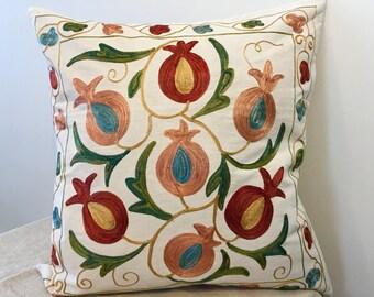 Uzbek suzani pillow cover # 26