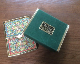 Beautiful 2 deck set of Pinocle cards - Duratone Plastic Coated- Vintage
