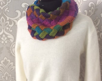 Knitted scarf Scarf from wool Warm scarf Spring scarf Women's scarf Winter scarf