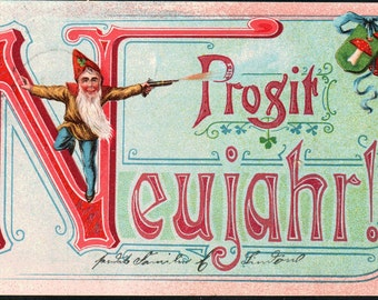 Prosir Neujahr Postcard Dated 1903 Berlin Germany