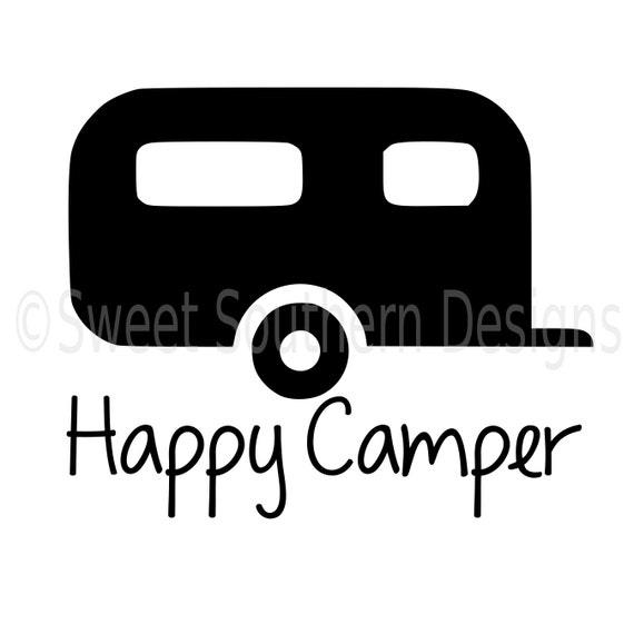Happy Camper RV SVG Instant Download Design For Cricut Or