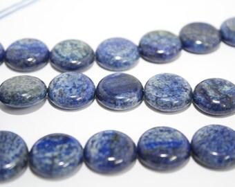 Lapis Lazuli Beads Lapis Lazuli Coin Beads Lapis Lazuli Strands Lapis Lazuli Gemstone Beads