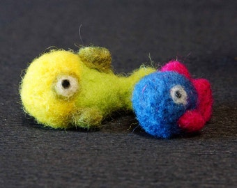 Needle felted fish (couple)