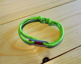 Bracelet with pendant, Paracord, surfer (hand made)