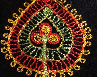 Embroidered Felt Vest