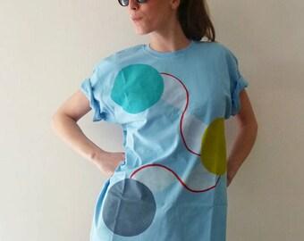 Circle light blue shirt