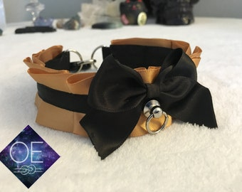 "PREMADE 12"" Black and Gold Collar"