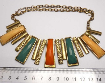 Copper Tone Necklace Vintage  vintage