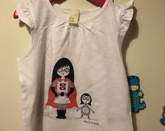Girl superhero t-shirt