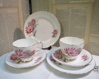 Delphine bone china 2 trios lillies