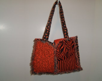 Halloween rag-bag quilted purse