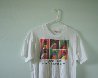 90's Save the Rain forest Tee