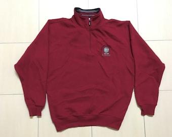 Vintage 90's Dunlop Sport Classic Design Skate Sweat Shirt Sweater Varsity Jacket Size L #A546