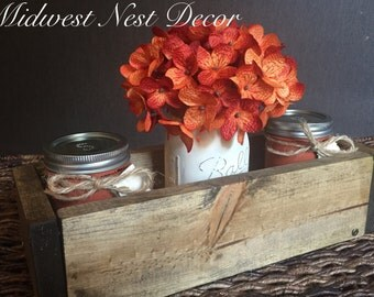 Fall Kitchen Table Centerpiece with Salt and Pepper Shakers