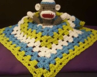 Crochet Rattle sock monkey