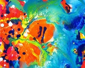 Small Painting Abstract Art Ocean Painting Original Abstract Acrylic Painting Wave Painting Australia Canvas Art Colorful Water Painting