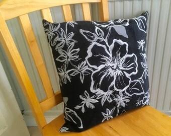 Black and White style print cushion