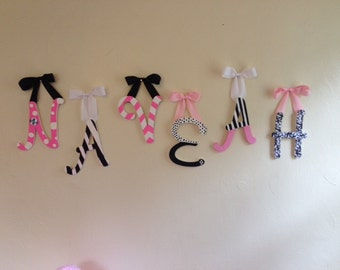 Wooden Name Wall Letters